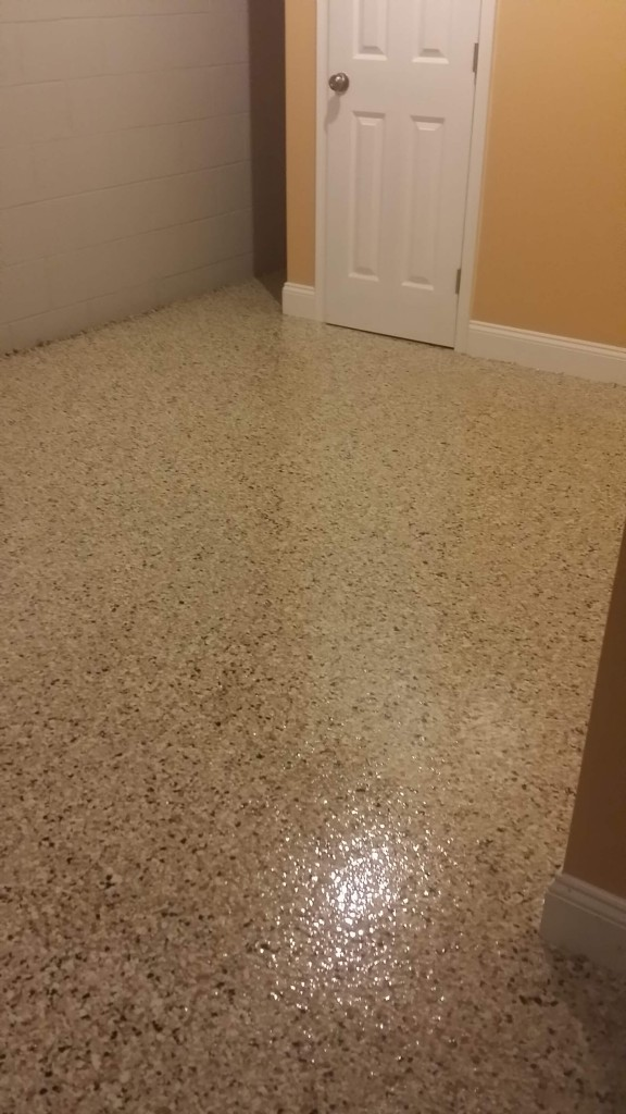Basement epoxy floor coating philadelphia epoxy for Residential flooring