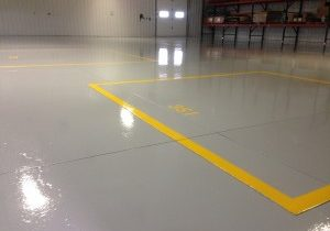 Industrial Garage Shop Coat Installation Grey Yellow